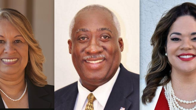 Three candidates for the Republican primary for Florida House District 27: Zenaida Denizac and Webster Barnaby of Deltona and Erika Benfield of DeBary.