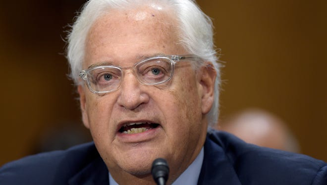 David Friedman, nominated to be U.S. Ambassador to Israel, testifies on Capitol Hill in Washington at his confirmation hearing before the Senate Foreign Relations Committee. (AP Photo/Susan Walsh, File)