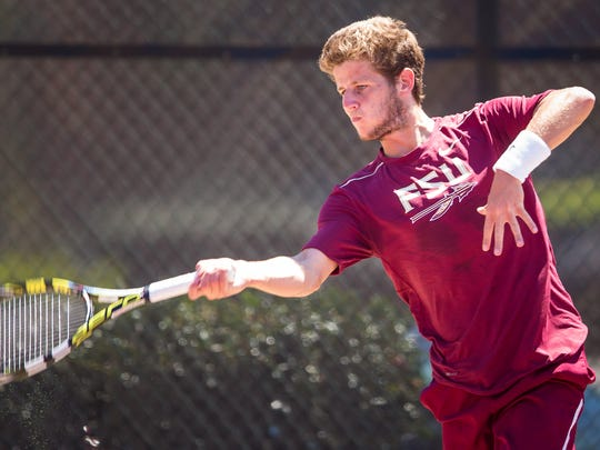 Florida State redshirt junior Lucas Poullain has compiled a 20-6 record in singles and 16-7 mark in doubles play this season.
