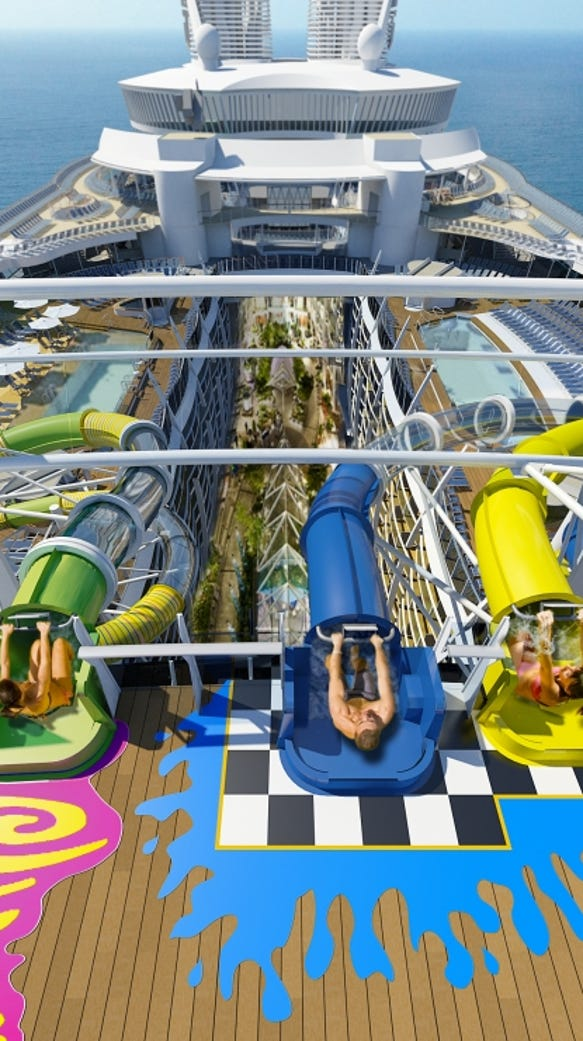 The park's signature ride, The Ultimate Abyss slide,
