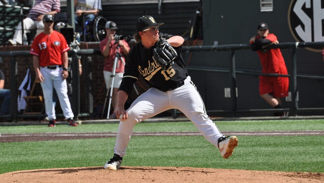 Vanderbilt pitcher Carson Fulmer is second in the nation in ERA at 0.98.