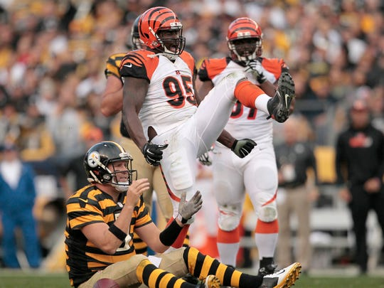 Versatile defensive lineman Wallace Gilberry will be a tough call in whether he returns to Cincinnati.