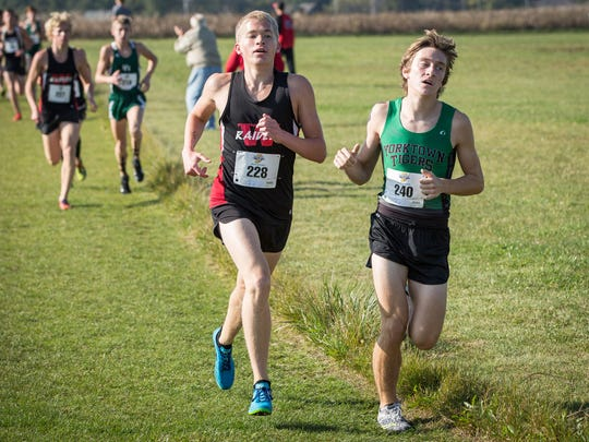 Wapahani's Nathan Herbst runs the IHSAA Regional Saturday