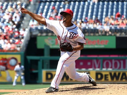 USP MLB: ATLANTA BRAVES AT WASHINGTON NATIONALS S BBN WAS ATL USA DC
