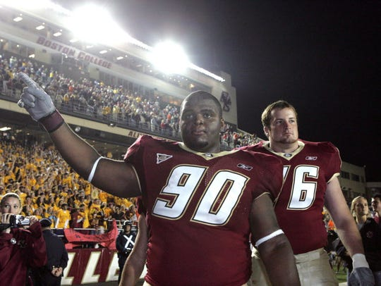 B.J. Raji at Boston College.