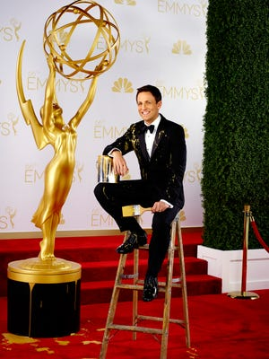 'Late Night' host Seth Meyers takes his first crack at hosting the Emmys on Monday.