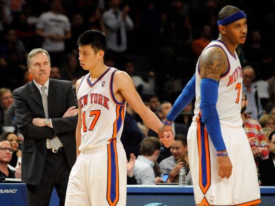 Lin and Carmelo Anthony.