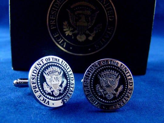 Joe Biden's vice presidential cuff links.