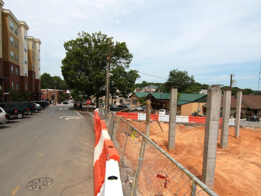 Clemson parking and construction