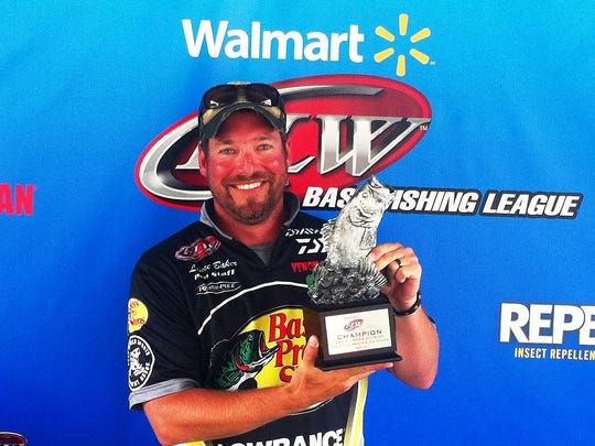 Co-angler Lance Baker of Huxley, Iowa, won the Aug. 23 Great Lakes Division event on the Mississippi River at Prairie Du Chien with a limit weighing 11 pounds. Baker walked away with over $2,100 in prize money for his efforts.