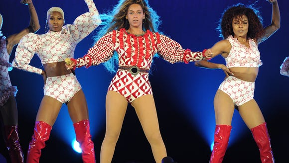 Hope those are easy to change out of, Bey!