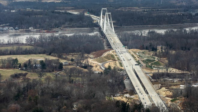 The new Lewis and Clark Bridge opened on Sunday.December 19, 2016