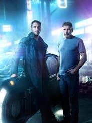 "Ryan Gosling and Harrison Ford in ""Blade Runner 2049."""