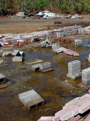 A 2005 photo of the aftermath of Hurricane Katrina.