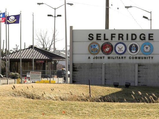 Selfridge Air National Guard Base in Harrison Township.