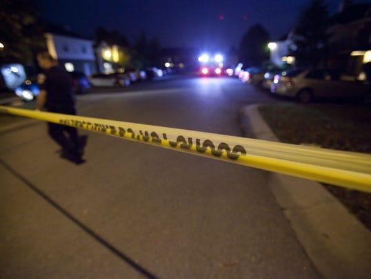 Crime scene police tape night
