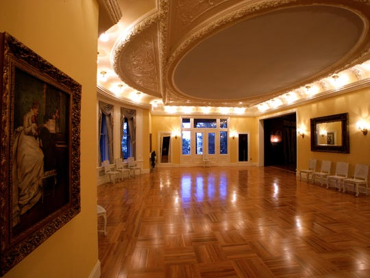The ballroom at Boldt Castle would have been the center