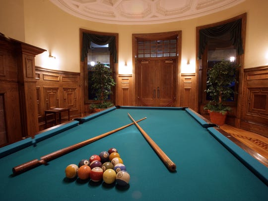 The billiards room at Boldt Castle would have been