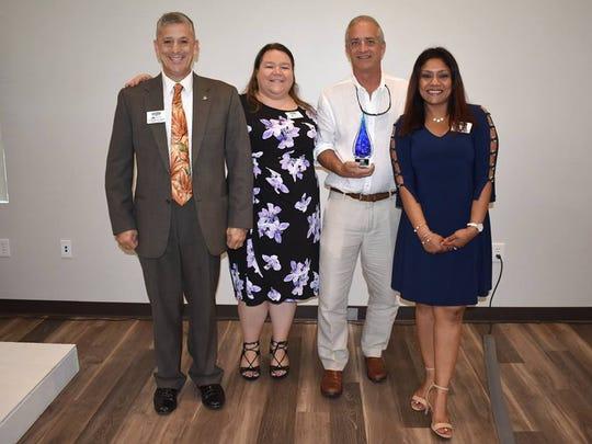 Mike Rogers the first Green Innovator Award Joe Flescher,