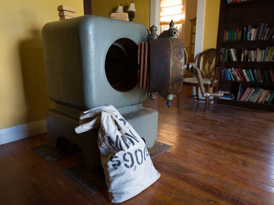 A cannonball safe sits open in a room in the Bank of Everglades building in Everglades City on Thursday, Sept. 22, 2016. The building's owner, Robert Flick, of Naples, says he hopes to find a buyer who will help restore and preserve the building listed on the U.S. National Register of Historic Places.