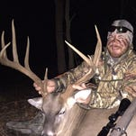 Taylor Horne of Raymond said he's seeing good numbers of deer this season, but this 161-inch 12-point topped them all.