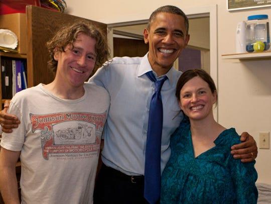 Steve Tannen, left, President Barack Obama, ceneter,