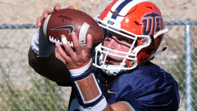 UTEP's Hayden Plinke, 85, was injured last year but is expected to return by September.