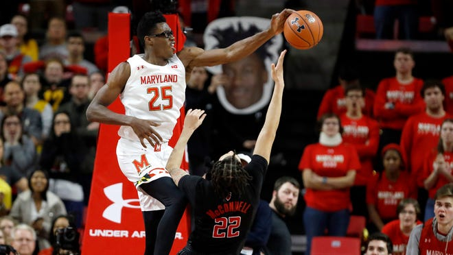 Maryland big man Jalen Smith is averaging more than 15 points, 10 rebounds and 2 blocks per game.