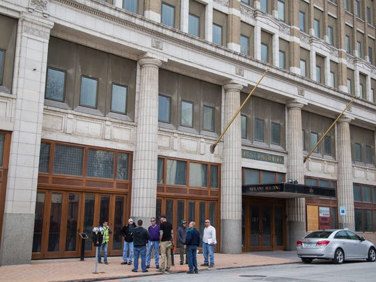Outside the Midland Building, on Monday, March 19,