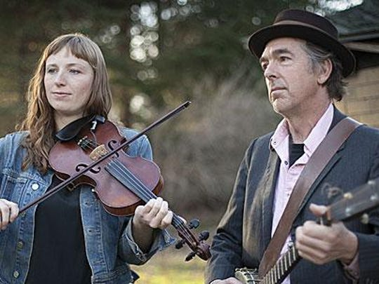 Fiddler Rosie Newton and banjo player Richie Stearns will perform Aug. 18 as part of the CFCU Downtown Ithaca Summer Concert Series.