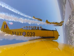 Flying high inside an aerobatic Thunder Over Louisville plane before the air show