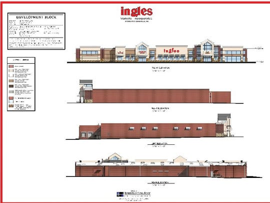 Ingles submitted this rendering to the city of Asheville for its proposed store fronting Airport Road in Arden.