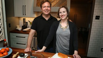 """Justin Fox Burks and Amy Lawrence have turned their love of meat-free foods into a book, """"The Chubby Vegetarian: 100 Inspired Vegetable Recipes for the Modern Table."""""""