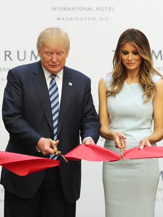 *** BESTPIX *** Donald Trump Holds Ribbon Cutting Ceremony For The Trump International Hotel In Washington, D.C.