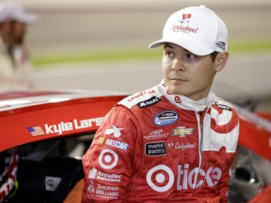 NASCAR driver Kyle Larson.