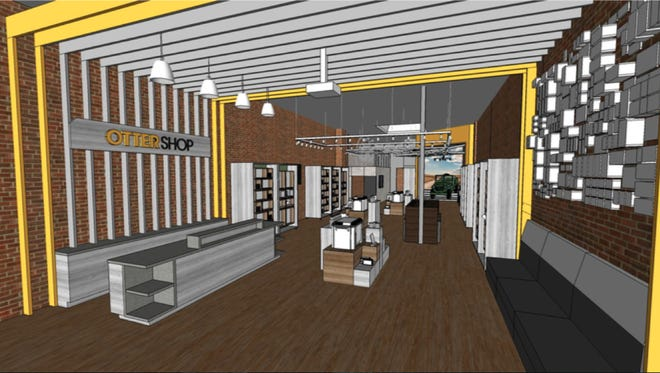 A rendering of Otter Shop, OtterBox's first and only retail store in the country.