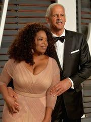 Oprah Winfrey and Stedman Graham, at the 2015 Vanity