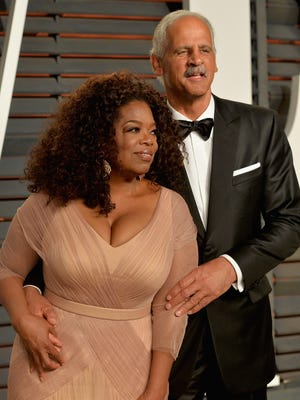 Oprah Winfrey and Stedman Graham, at the 2015 Vanity Fair Oscar party, have dated since the '80s.