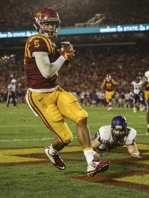Iowa State wide receiver Allen Lazard has been a part of just three Big 12 Conference victories in nearly three seasons in Ames. That lack of success is hardly the Urbandale prep star's fault.