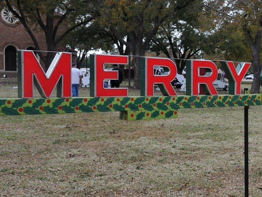 "A ""Merry Christmas To All"" sign that Midwestern State University employees said they found hidden in a crawl space under the Hardin Administration Building will be a new addition to this year's Burns Fantasy of Lights display. The lights will come on at dusk on Nov. 20 and light each night through Christmas."
