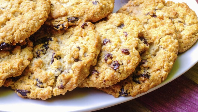 Terrie McArthur's Oatmeal Cookies are made with organic ingredients, white chocolate and raisins.