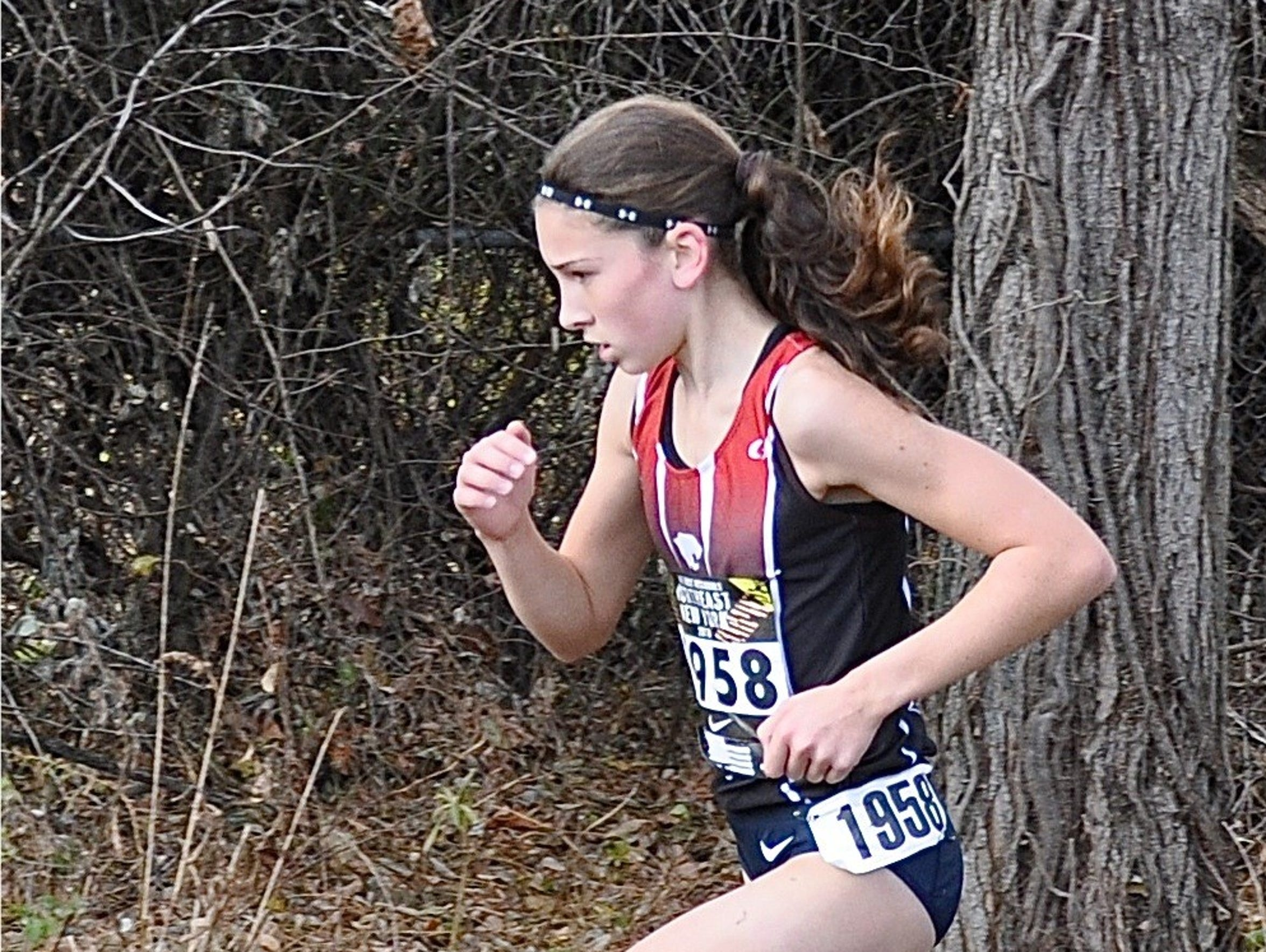 North Rockland's Haleigh Morales runs during the Nike