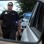 Police say motorists pulled over for a traffic stop should place their hands on the steering wheel as the officer approaches. Wait for the officer to approach and engage in conversation before searching for driver's license, registration or insurance.