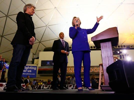 Hillary Clinton, Bon Jovi, Cory Booker