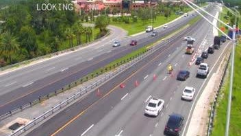 A vehicle struck and killed a pedestrian near Interstate 95 exit 273 in Ormond Beach around noon Thursday, July 16, 2020.  Traffic is being diverted onto U.S. 1.