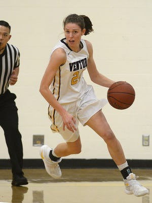 Aubrey Knight, who helped lead the Ventura High girls basketball team to the state regional final, was named the MVP of the Channel League.