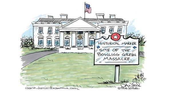 Charlie Daniel's editorial cartoon for Thursday, Feb.