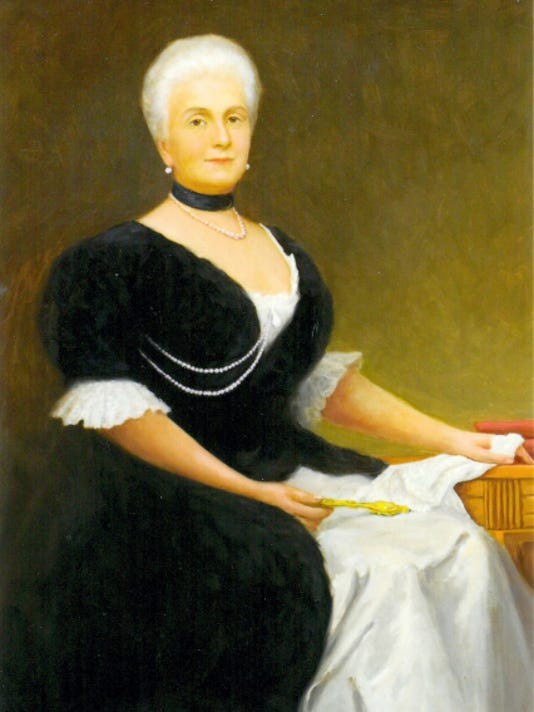 This portrait of Harriet Lane Johnston, niece and first lady to American President James Buchanan, shows her as she appeared at age 69.