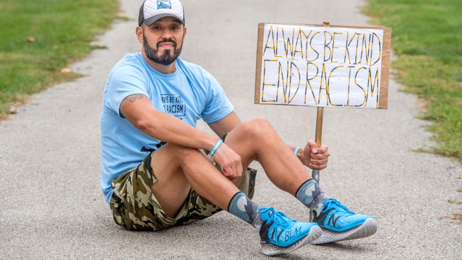 Gabriel Trevino, 43, of West Peoria, plans to run non-stop Friday from the Franciscan Recreational Complex to the State Capitol in Springfield to help promote the Black Lives Matter movement and the Keegan's Krew Anti-Bullying Campaign.