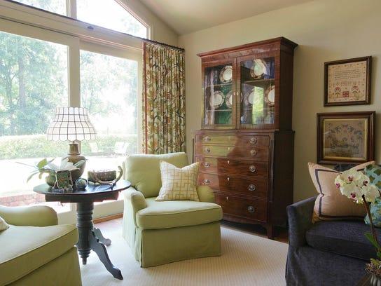 Living area remodeled by Jenny Johnston.
